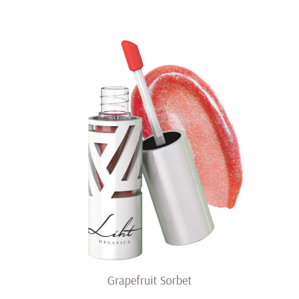 Liht Organics Moisture Burst Lip Glaze - Grapefruit Sorbet