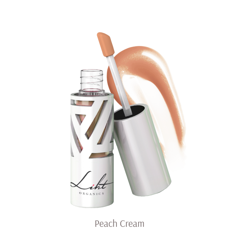 Liht Organics Moisture Burst Lip Glaze - Peach Cream