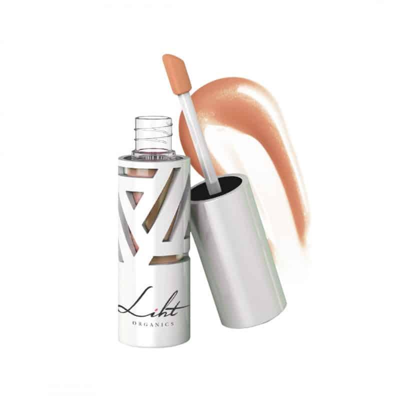 Liht Organics Lip Glaze in Peach Cream